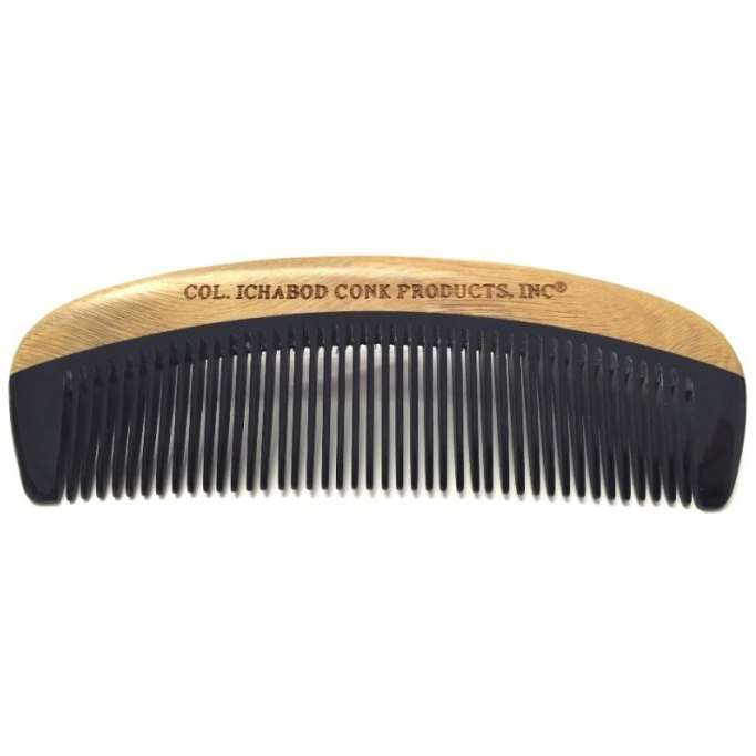 4363 Col Conk Green Sandalwood And Horn Beard Comb Col