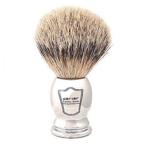 Chst Parker Chrome Handle Silvertip Badger Brush