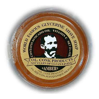 4250  C. Conk  Amber Glycerine Shave Soap #114