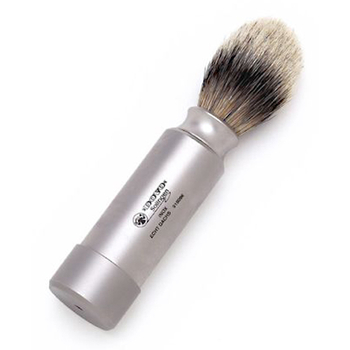4280 Dovo Silver Tipped Badger Travel Shave Brush