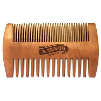 4366 Col Conk Wood Beard Comb Fine & Coarse