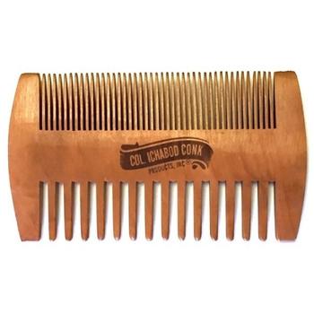 4366 Col Conk Wood Beard Comb Fine & Coarse