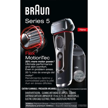 Braun Series 5 5090cc Electric Shaver With Cleaning Stand