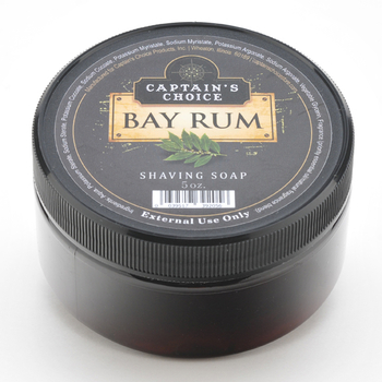 Captains Choice  Bay Rum Shaving Soap