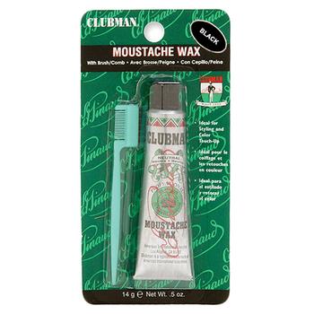 6403 Clubman Moustache Wax, Black