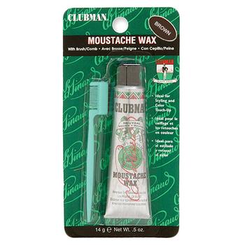 6404 Clubman Moustache Wax, Brown