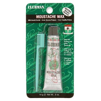 6405 Clubman Moustache Wax, Neutral (White)