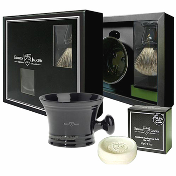 GS8SSAV Jagger Black Best Badger Brush, Bowl & Soap Set