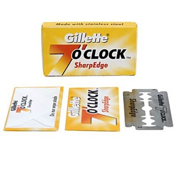 Gillette 7 Oclock Blades Yellow