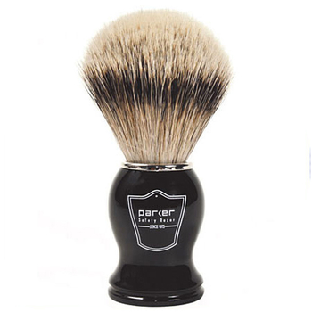 BHST Parker Black Handle – Silvertip Badger Brush