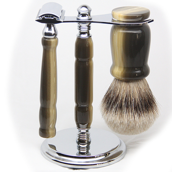 Imitation Horn 3-piece Shaving Set