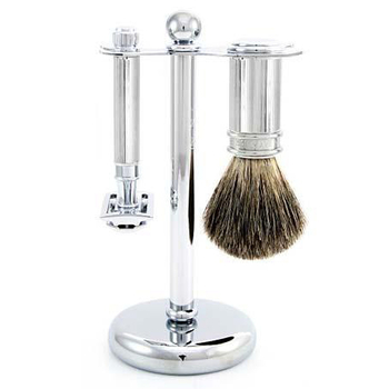 S81M89L11 Jagger Chrome Lined DE Shaving Set