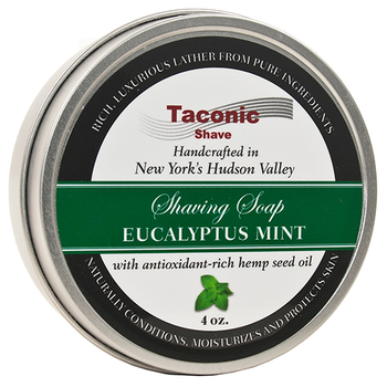 Taconic Eucalyptus Mint Shave Soap with Hemp Seed Oil