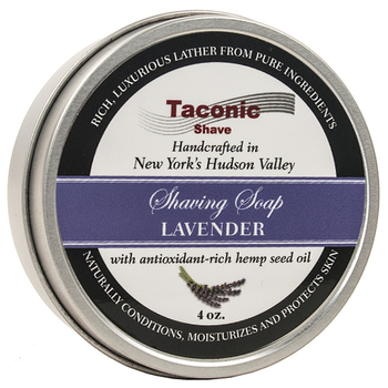 Taconic Lavender Shaving Soap with Hemp Seed Oil
